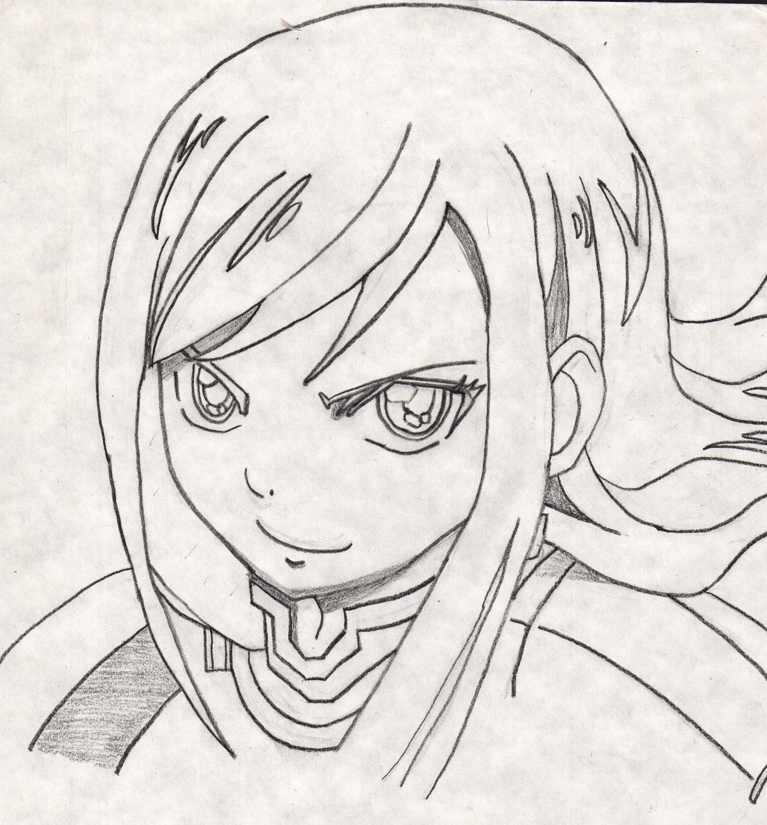 Fairy Tail Erza Black and White